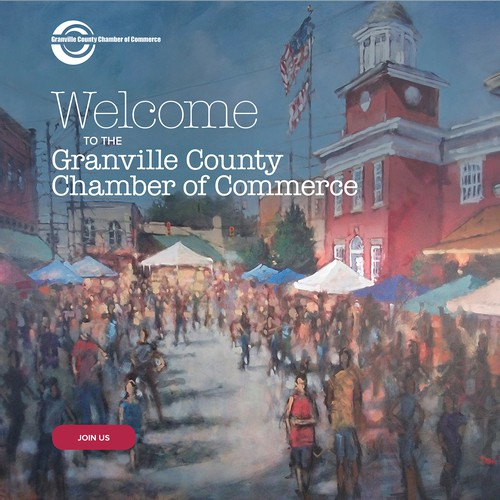 Home page redesign for Granville Chamber of Commerce