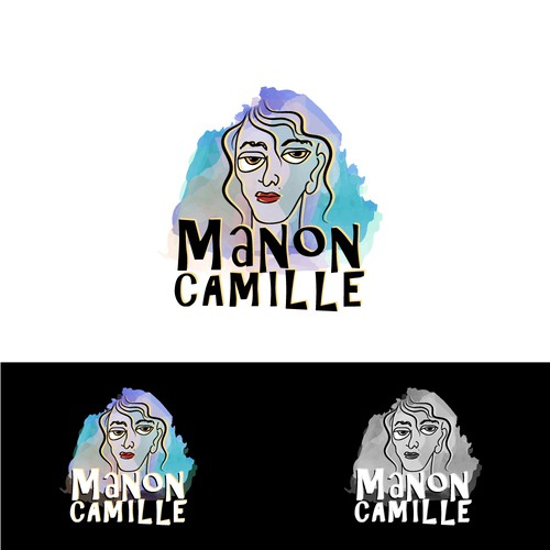 Winning design for Manon Camille, a drawing artist.