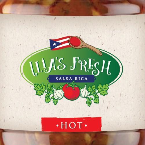 Ilia's Fresh Salsa Logo