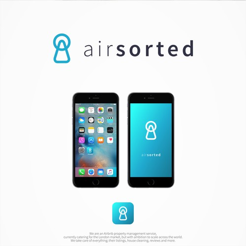 "Clean logo for ""airsorted"""