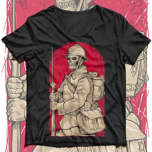 powerful designs for military-inspired t-shirts.