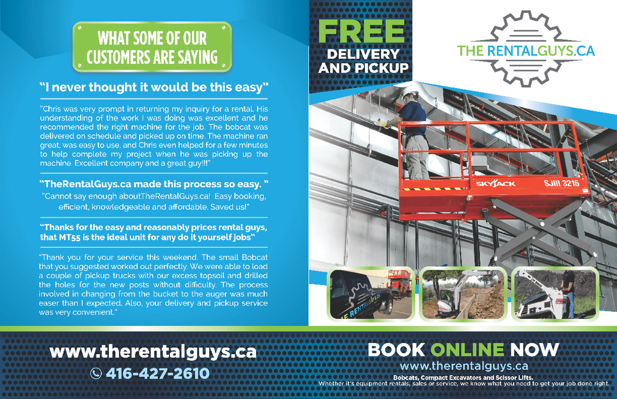 We would like you to redesign the 2 page brochure that we have so that it matches the postcard and door hanger.