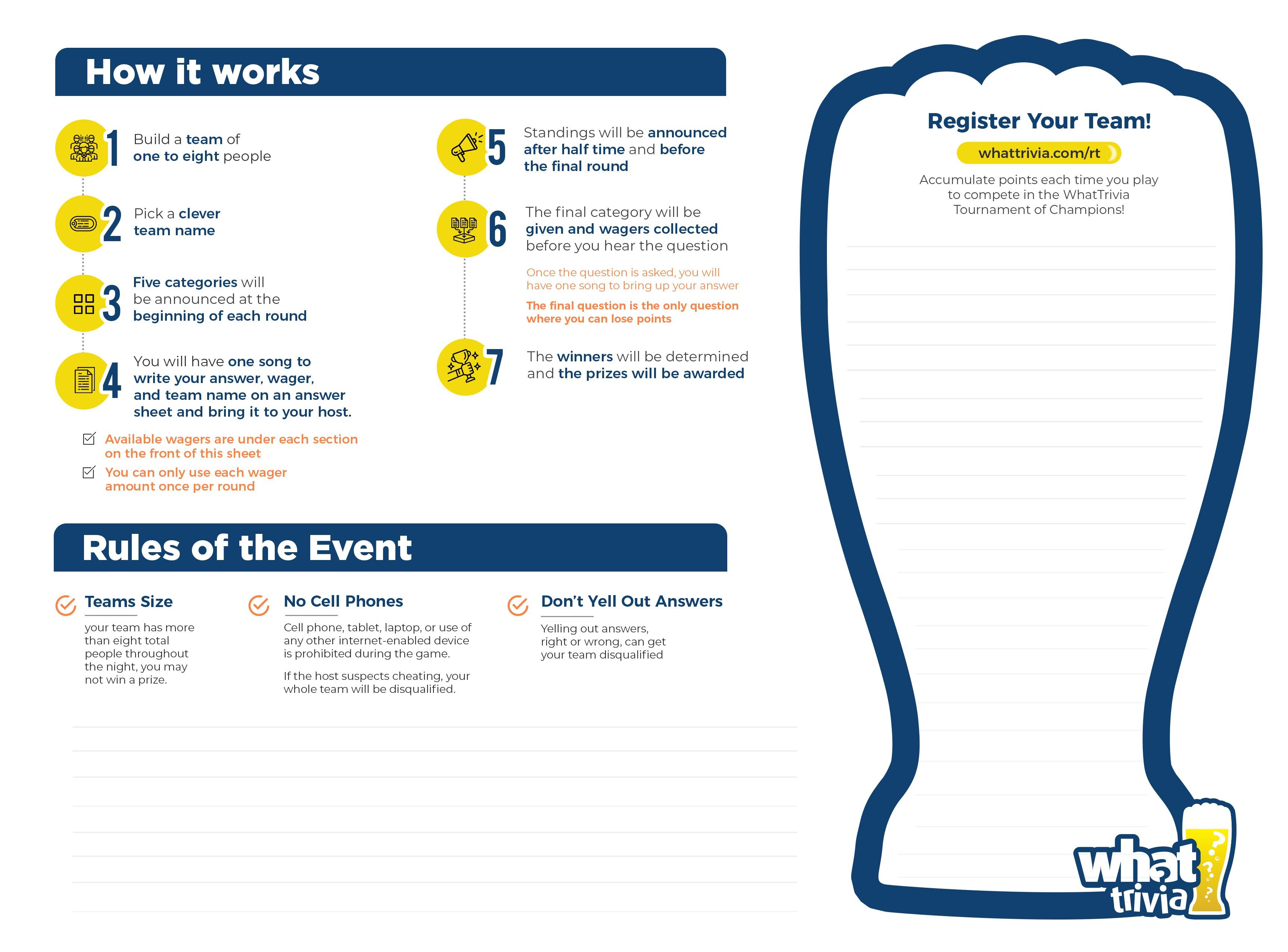 WhatTrivia Bar Event Tracking Sheet