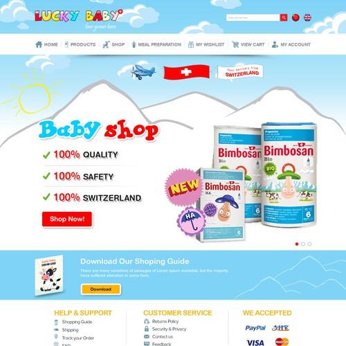 Website Design for Ecommerce Business – Baby Webshop