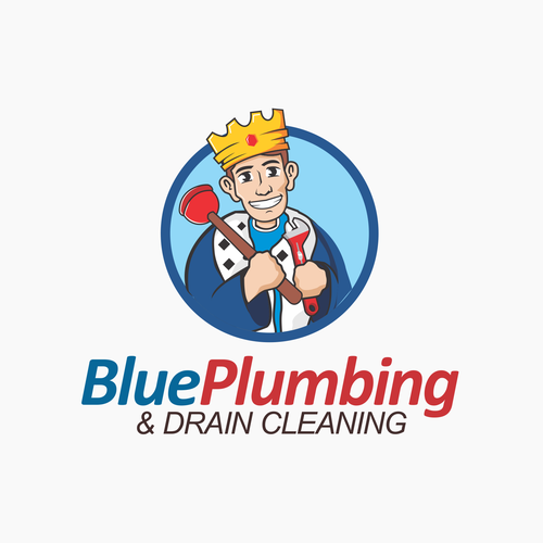 Playful logo for plumbing and dry cleaning services