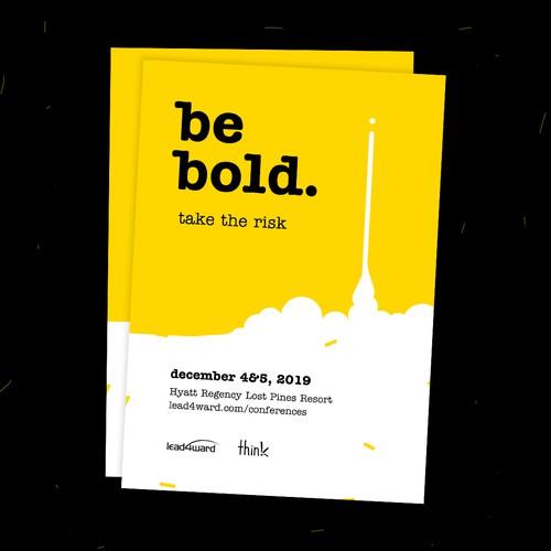 be bold. postcard