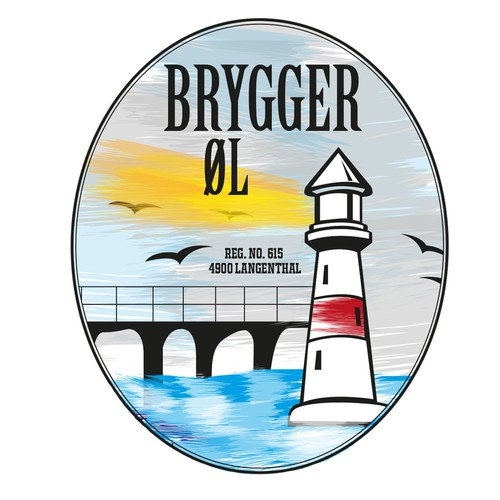 Craft Beer Label for the nano brewery Brygger Øl