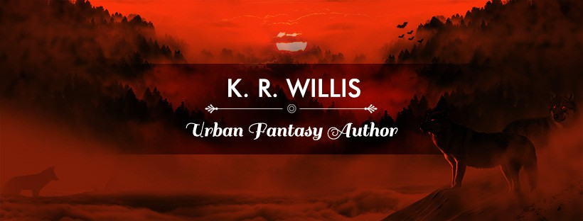 New website banner needed for urban fantasy author.