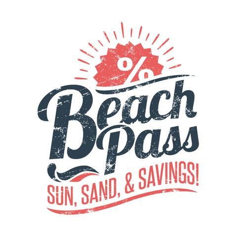 Beach style Logo for BEACH PASS