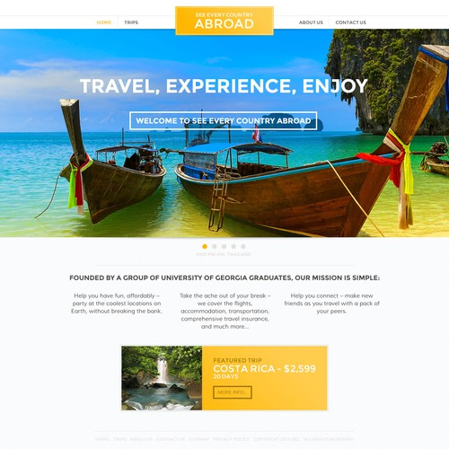 "See Every Country Abroad (""SEC Abroad"") needs a new website design"