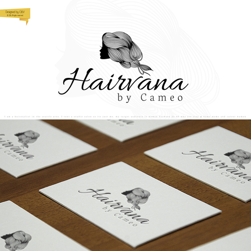 Logo for the hairstylist