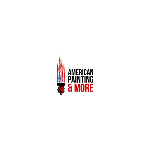 Concept of logo for painting company with a focus on the flag of the United States.