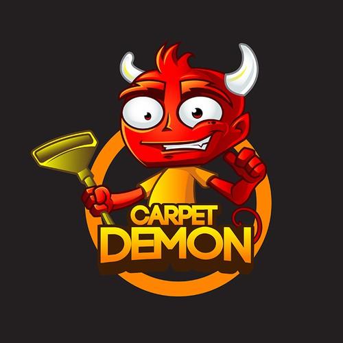 Friendly demon mascot