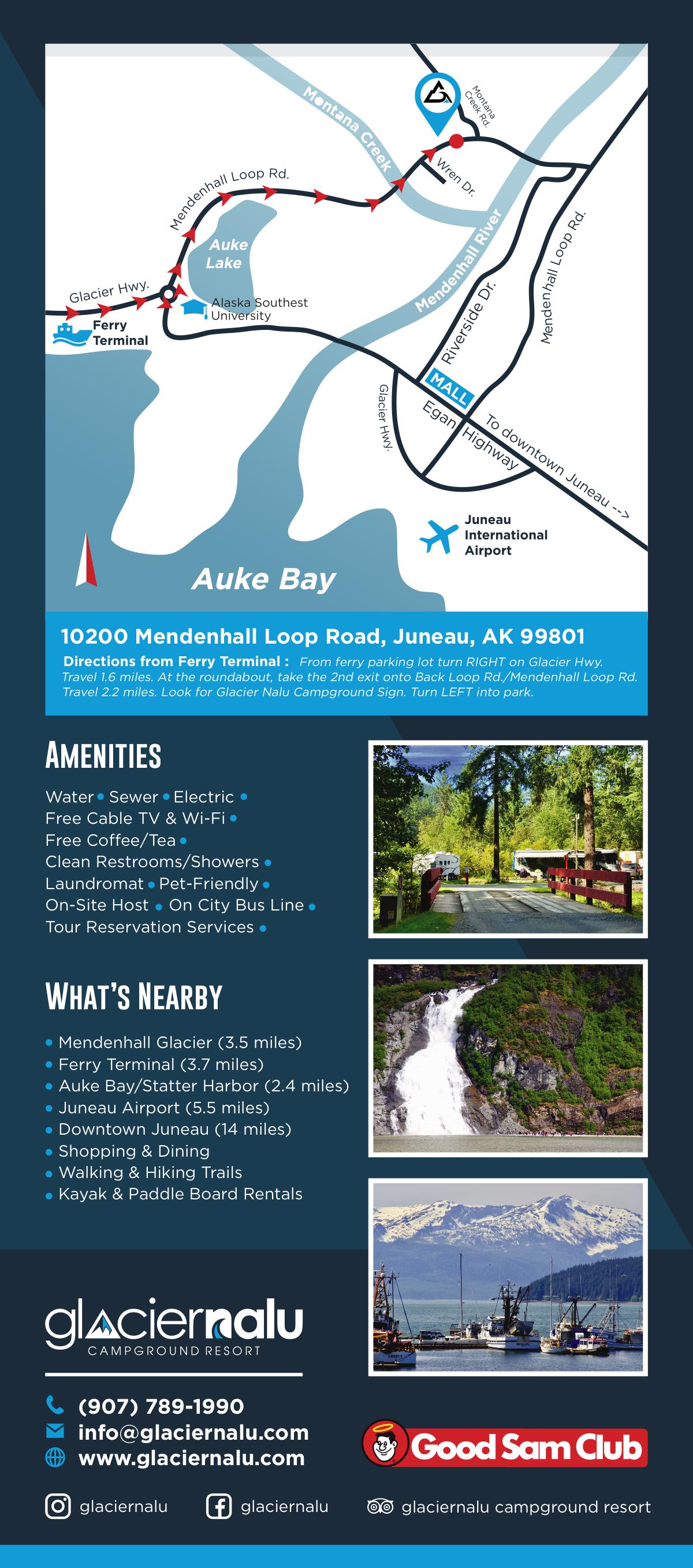 Rack Card Design for Glacier Nalu