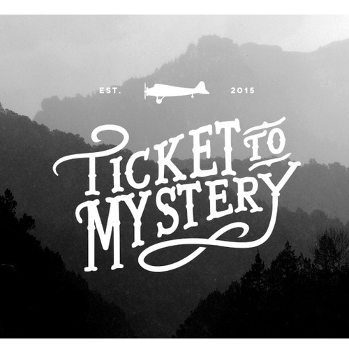 Vintage travel logo, FB and business cards for an interactive mystery game business.