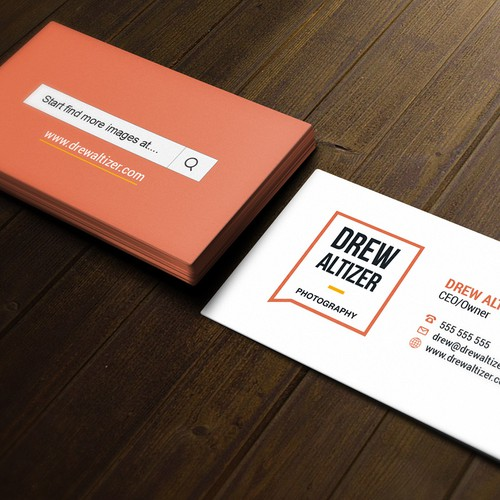Simple modern card for Drew Altizer