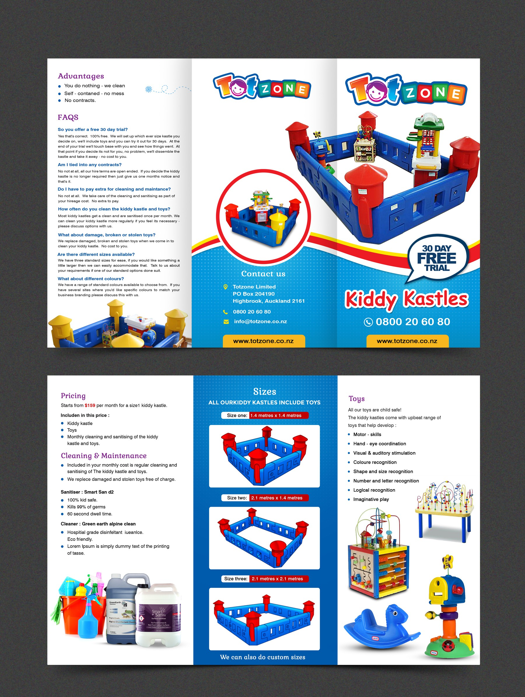 Design an eye catching flyer for Totzone