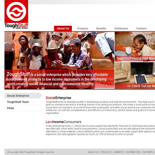 Website design for ToughStuffOnline.com