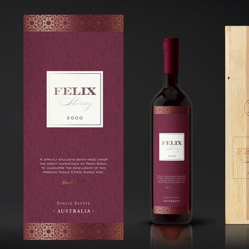 Luxury wine label - Felix