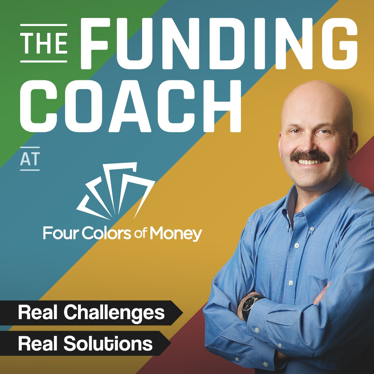 Podcast art for The Funding Coach at Four Colors of Money