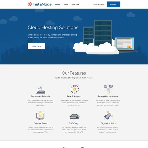 Cloud Hosting design