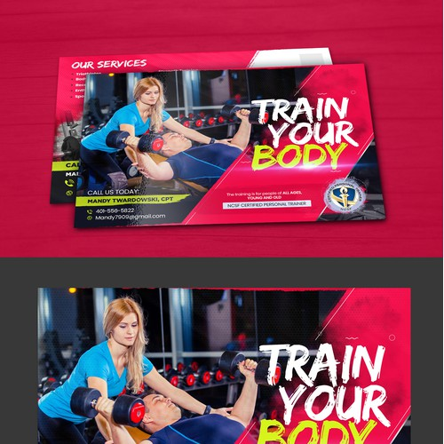 Personal trainer Needs eye popping Post Card