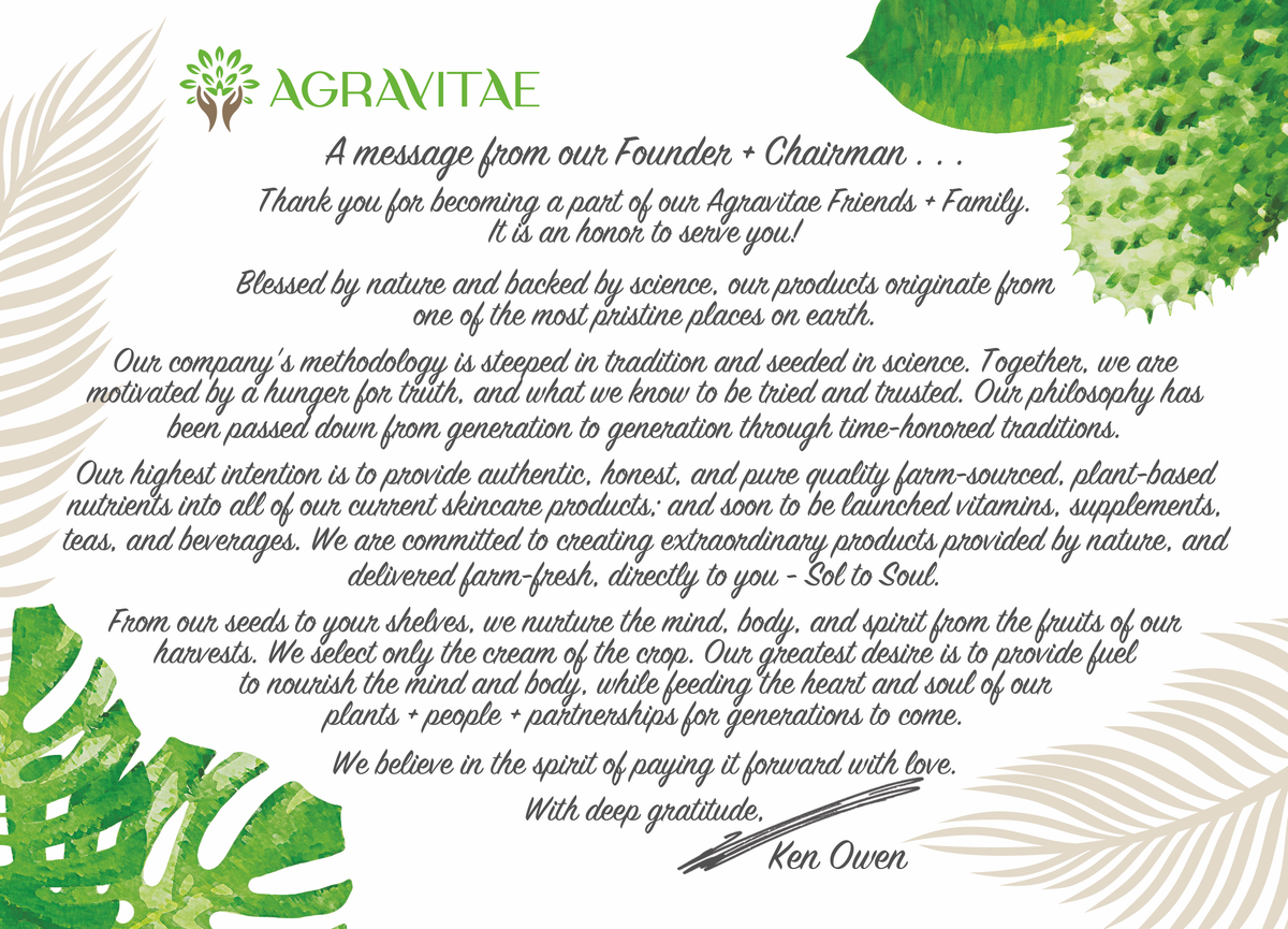Agravitae Welcome Card