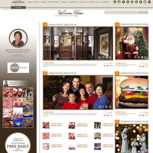 Create a home lifestyle website that feels  as cozy as hot chocolate on a winter day