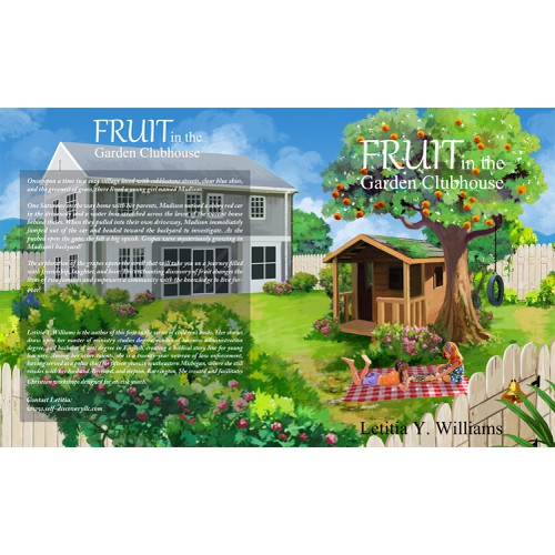 Child's play in a beautiful fruit garden