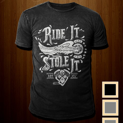 Hot Vintage Motorcycle Shirt - Ready for your designs. GO!!!