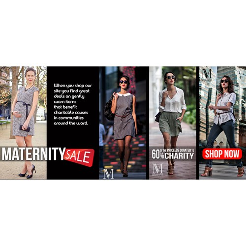 Create compelling Fashion banner for charitable site