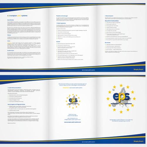 Brochure design for Startup Business. 6 Seitige Broschüre DinA4.
