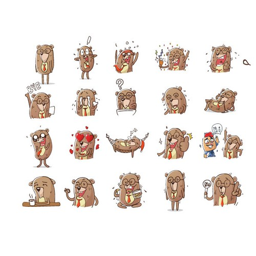 Bear emoticons