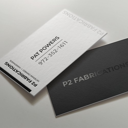 Letterpress Business card Design