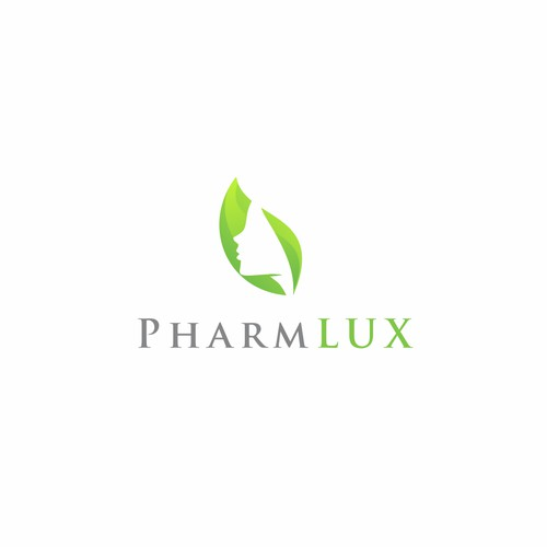 Beautiful logo for PharmLux. This is an online store that sells beauty and health products.