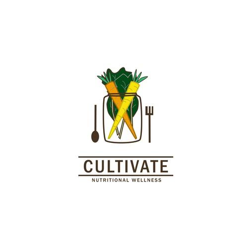 VIntage logo for healthy food