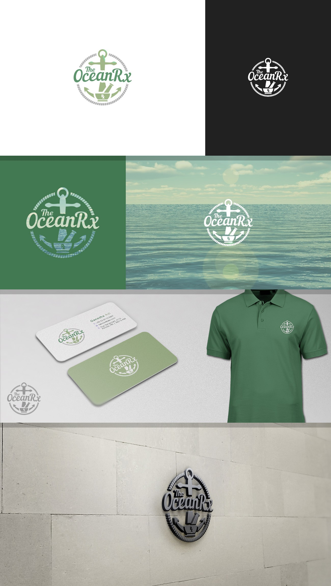 Need a Unique Fitness, Health & Wellness OCEAN inspired logo