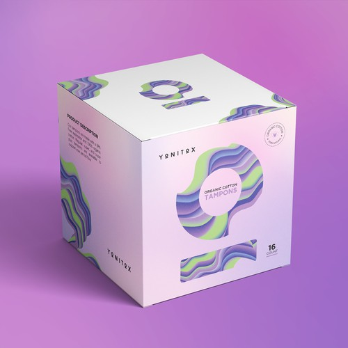 Clean, Vibrant Feminine Care Product Packaging