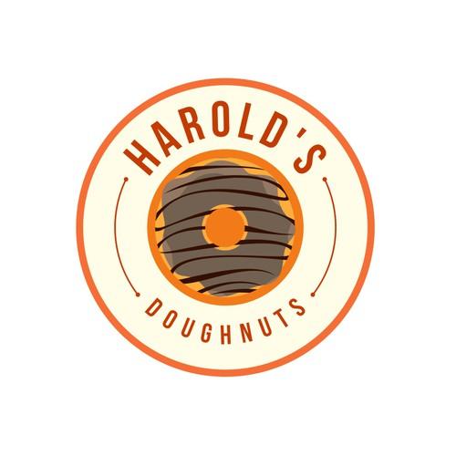 Design a sophisticated logo for a gourmet doughnut shop.