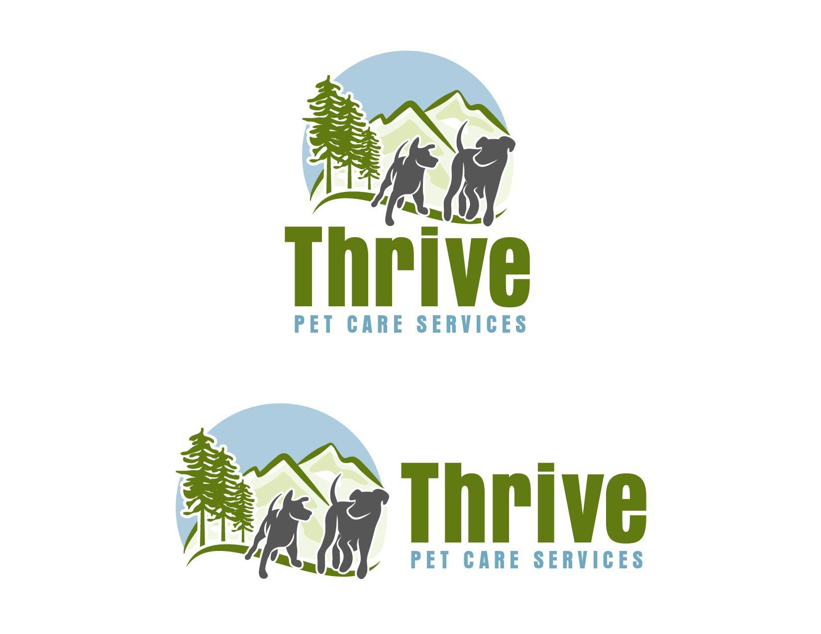 Create a fun, yet classy, logo for a pet care company in the Santa Cruz Mountains, CA.