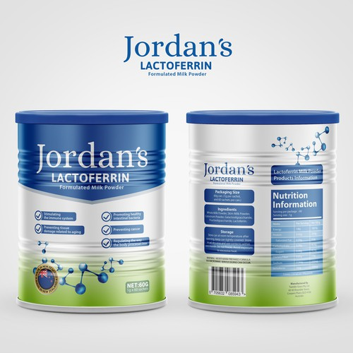 Jordan's Lactoferrin Formulated Milk Powder
