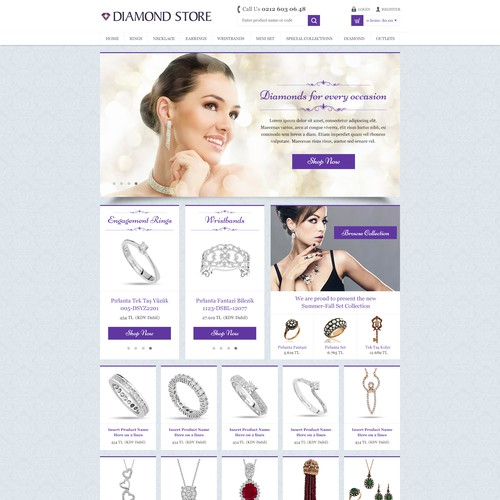 Clean Diamon Store Design