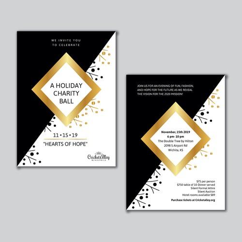 A Holiday Charity Ball invitation design