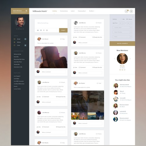 Dating web app