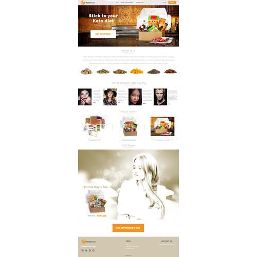 Web page design for KetoKrate