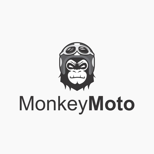 Cool logo for Monkey and Motorcycle