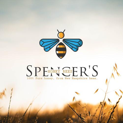 Modern logo for honey brand