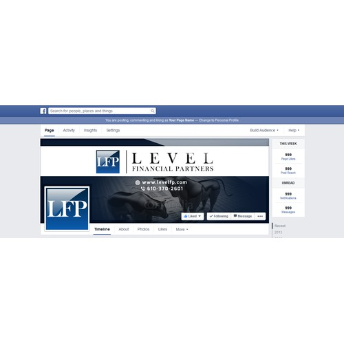 Facebook page for Level Financial Partners