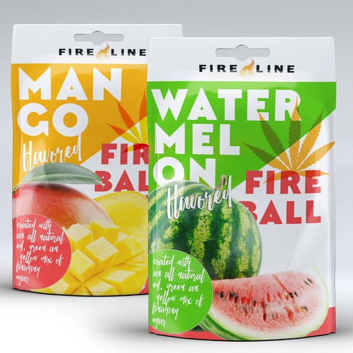 bold packaging design for cannabis sweets