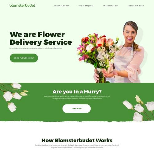web design concept for Blomsterbudet